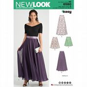6580 New Look Pattern: Misses' Skirt and Overskirt